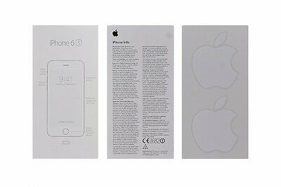 User Guide and Welcome Card for Apple iPhone 6s - Apple Sticker Included