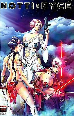 Notti & Nyce #0 Star Wars Leia Cover by Ryan Kincaid 1/100 Chase Battle Damage