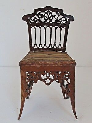 Antique Hand Made Miniature Fretwork Side Chair One of a Kind