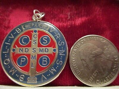Vintage New Old Stock  St. Benedict Religious Protection Medal Pendant Lot #b9