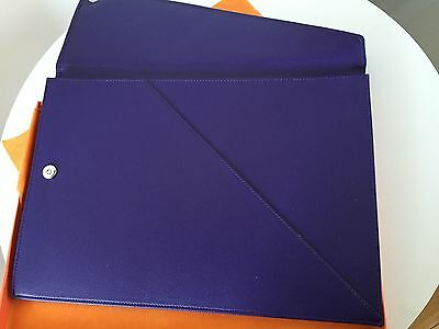 CAMPO MARZIO Large Document Leather Wallet Brand New Boxed violet