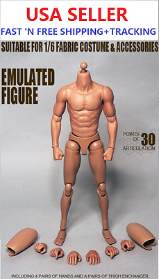 """ZC Toys 1/6 Scale 12"""" Narrow Shoulder Emulated Figure Asian Male Muscular Body"""