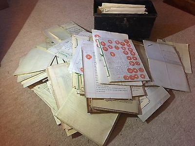 Huge Collection Antique historical Indentures + legal documents -195 excellent