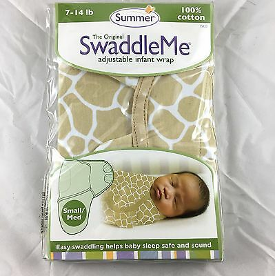 NIP SUMMER THE ORIGINAL SWADDLE ME Giraffe INFANT WRAP 7-14 LB SMALL/MED