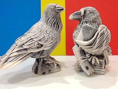 Ravens figurines bird Crows marble chips Souvenirs from Russia realistic crows