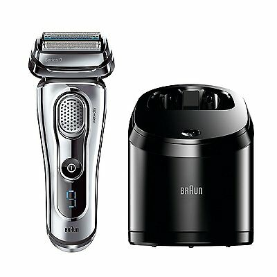 Braun Series 9 9095CC Men's Electric Foil Shaver Wet and Dry with Clean and Rene