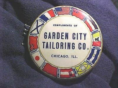 Antique Chicago Tailoring Advertising Celluloid Pocket Mirror/Pin Holder OFFER