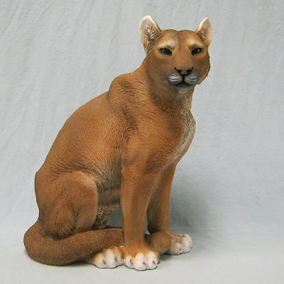 Ghost Cat Mountain Lion Figurine Statue