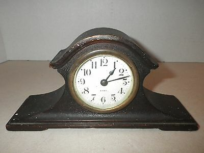 Small Vintage Seth Thomas Tambour 8-Day Mantle clock - Parts or Repair or Decor