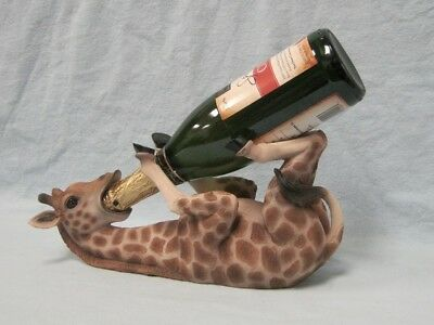 Tall Drink Giraffe Figurine Wine Holder Figurine Statue
