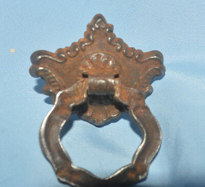 Antique Victorian Style  Metal O Ring Drawer Pull