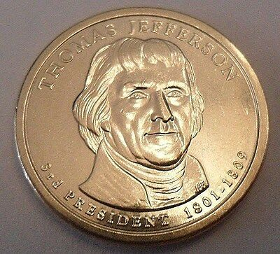 2007 D Thomas Jefferson  Presidential Dollar Coin  **free Shipping**