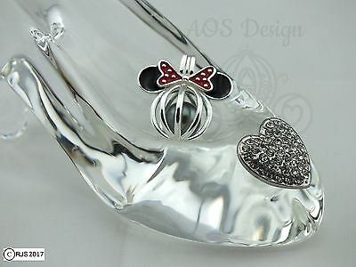 Pick A Pearl Cage Minnie Head 925 Silver Disney Hidden Mickey Mouse CHARM ONLY