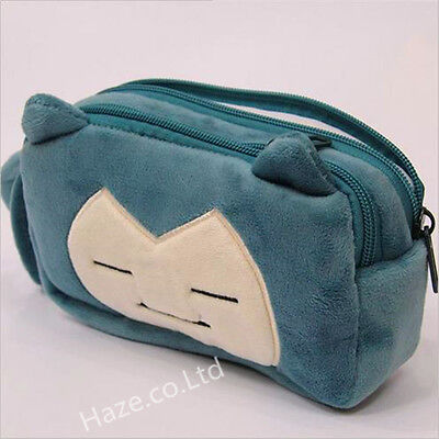 Pokémon Snorlax Pencil Case Stationery Bag Makeup Pouch Box Gift