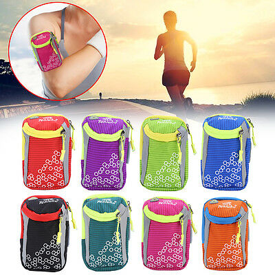 Waterproof Nylon Sports Arm Bag Armband Wrist Pack Pouch For Cell Phones