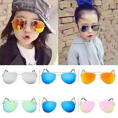 Retro Fashion Children Kids Boys Girls Students Aviator Sunglasses Eyewear UV400