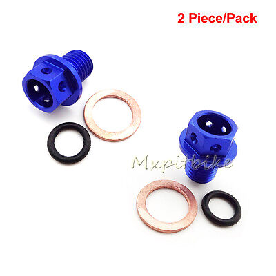 2xMagnetic Oil Drain Bolt Plug For 50-160cc Lifan YX Zongshen XR50 Pit Dirt Bike