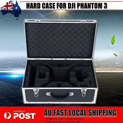RC Drone Box Carry Hard Case Aluminum For DJI Phantom 3 Black Hardshell AU STOCK