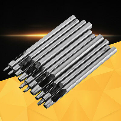 10pcs Metal Punch Leather Puncher Hole Hollow Belt Craft Tool Kit Sets 0.5-5mm