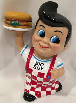Bobs Big Boy Plastic Collectable Bank 81/2 Inches Tall