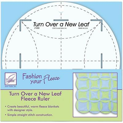 Quilting Patchwork Sewing Template June Tailor – Turn over Leaf Ruler New Ruler