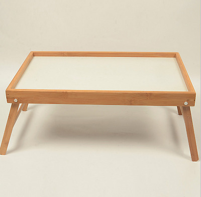 BAMBOO Folding Table tray use in bed food or drinks tray laptop stand 懒人床用桌