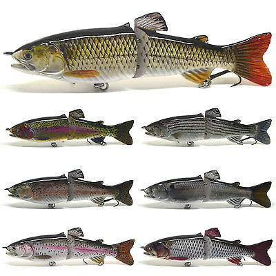 "7"" Muskellunge Muskie Musky Pike Lure Bait Swimbait Jerk Bait Jointed Life-like"