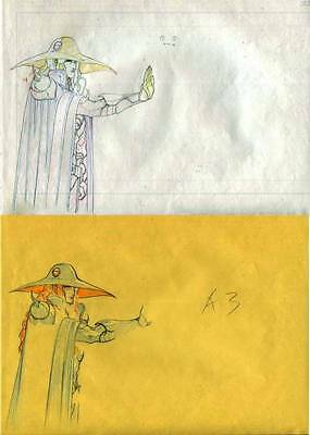 Anime Genga not Cel Vampire Hunter D 4 pages #1287