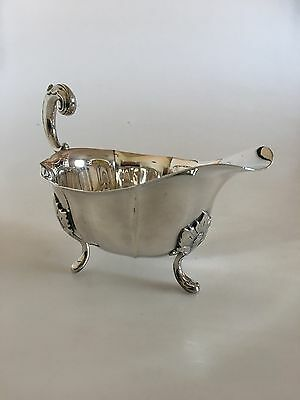 Footed Sauce Bowl with Handle in Silver