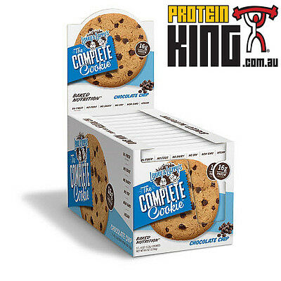 LENNY & LARRYS THE COMPLETE COOKIE BOX OF 12 x 113G CHOCOLATE CHIP PROTEIN LARRY