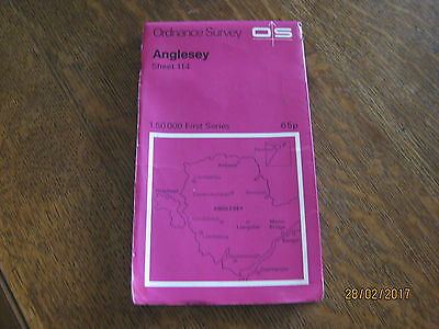 Ordnance Survey Map of Anglesey Vintage