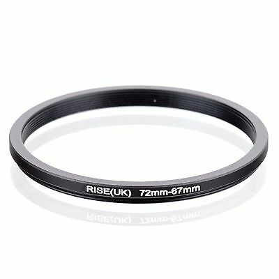 RISE(UK) 72--67mm 72mm to 67mm 72-67 Matel Step Down Filter Ring Adapter