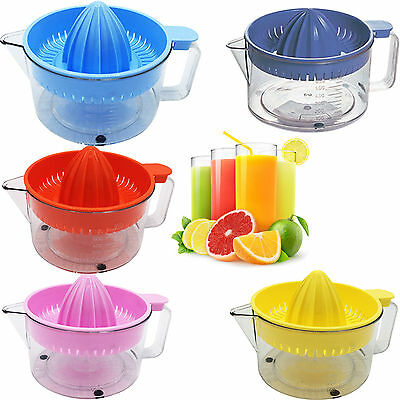 In 5 Colors Fruit Juicer Hand Press Juice Jug Citrus Lemon Lime Orange Squeezer