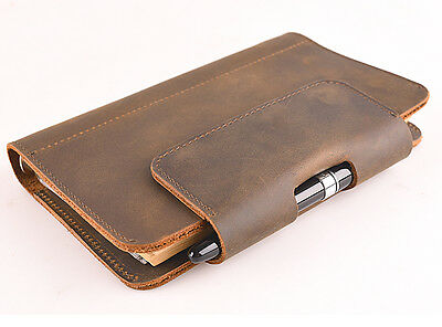 Handmade Genuine Leather Notepad Notebook Refillable Vintage Blank Diary Journal