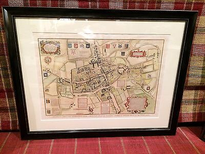 A beautiful antique map of Oxford city (Skelton's 1823 reduced engraving)