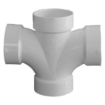 """Genova Products 73530 Double Sanitary Tee Pipe Fitting, 3"""""""