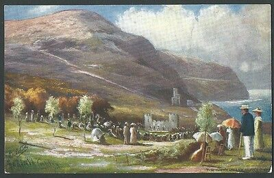 Llandudno Conwy The Happy Valley 1907 Cubley Tuck Oilette Artist Drawn Postcard