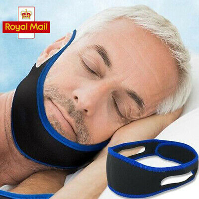 New Snore Stop Belt Anti Snoring Cpap Chin Strap Sleep Apnea Jaw Solution UK SUN