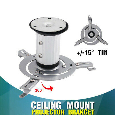 Universal Projector Ceiling Mount Bracket Tilt Swivel LCD/DLP Home Theatre New
