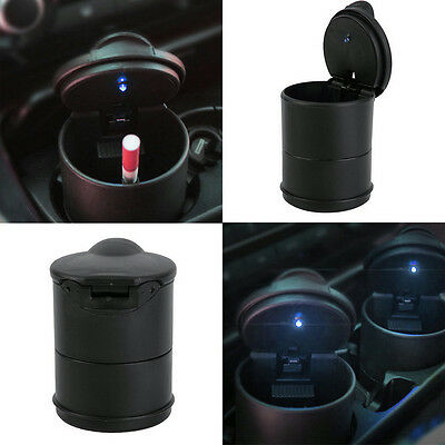 New Car Auto Truck LED Light Cigarette Ash Ashtray Butt Extinguish Holder Black