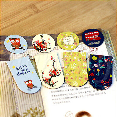 1/2PCS Beautiful Magnetic Bookmarks Note Memo Stationery Book Mark Bookworm