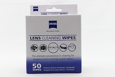 60 x Zeiss Lens Cleaning Wipe Glasses Moistened Mobile Screen Camera Optical