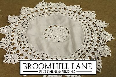 New! Irish 10 Inch 12 PACK Cotton Cloth Linen Lace Doilies Handmade SET