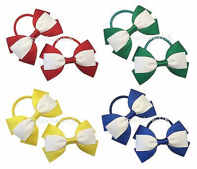 Grosgrain ribbon school hair bow/accessories on thick bobbles or alligator clips