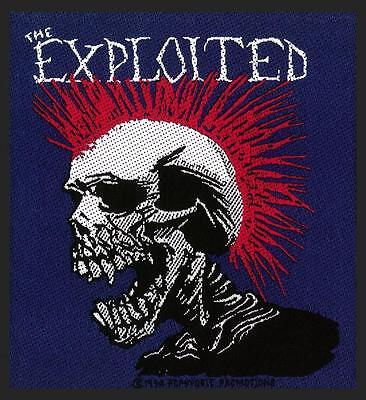 Official Licensed - The Exploited - Mohican Multicolour Sew On Patch Punk