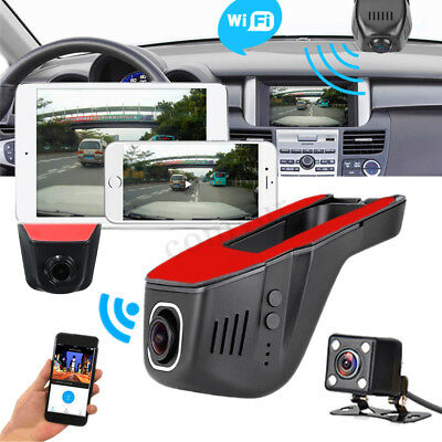 HD 1080P Wifi Car Hidden DVR Camera Dual Lens Dash Cam IOS Android App Ctrl