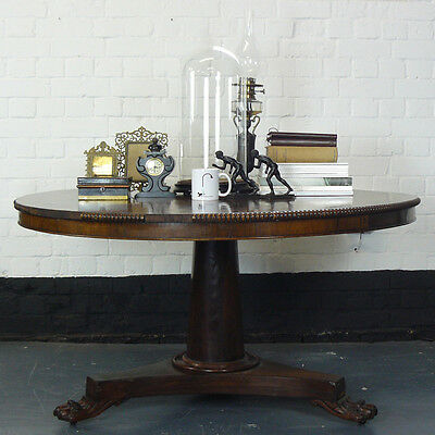 An English Victorian Rosewood Centre Breakfast Dining Table