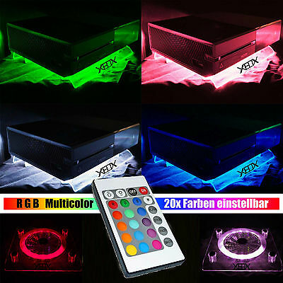 RGB LED USB Design Cooling Fan Fan Stand Xbox One S oder 360 Accessories Live IR