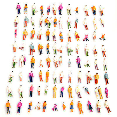 100pcs Standing Pose Assorted HO Scale Model Train Street People Figure Great