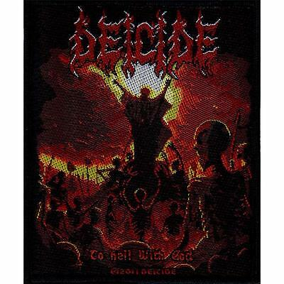 Official Licensed - Deicide - To Hell With God Sew On Patch Death Metal